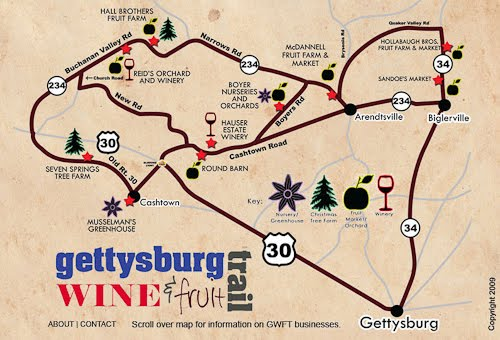 The Traveling Tripod: Gettysburg Wine and Fruit Trail on gettysburg pennsylvania on us map, pennsylvania regions map, gettysburg manufacturing map, downtown gettysburg pa map, norhteast and southeast map, gettysburg trail map, winery map, gettysburg tourism map,