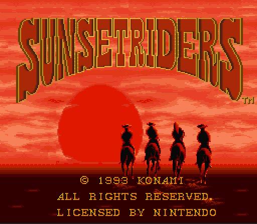 VGJUNK: SUNSET RIDERS