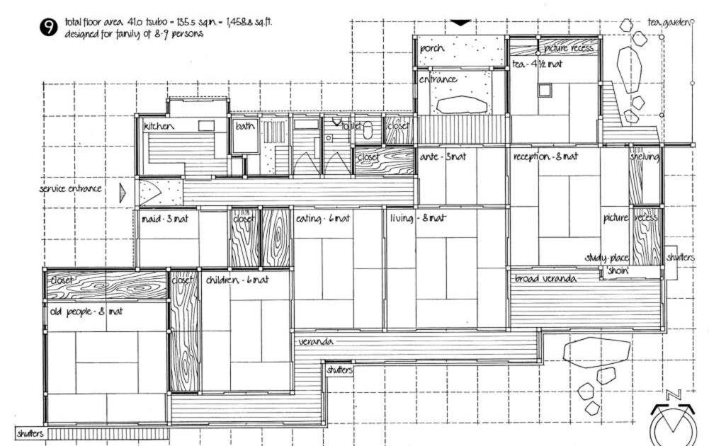 La casa giapponese moderna pianta casa giapponese for Piante di case