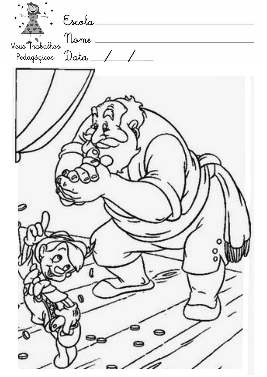 Meus Trabalhos Pedagogicos Desenhos Para Colorir Pinoquio