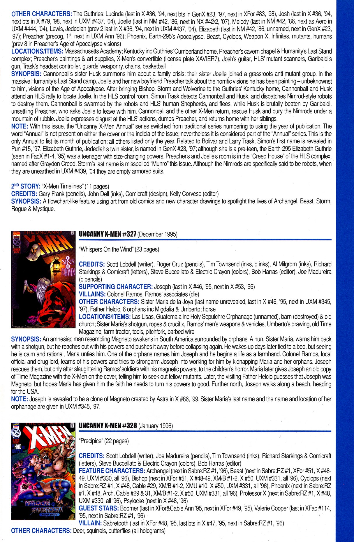 Read online Official Index to the Marvel Universe comic -  Issue #8 - 61