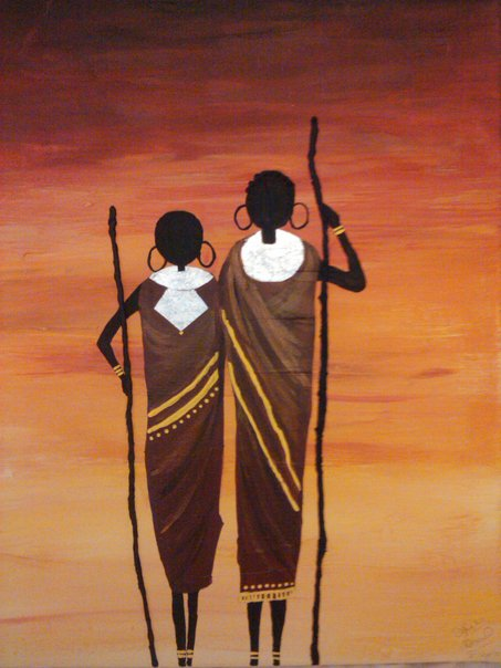 DIY and arts projects for pure fun!: A Masai Couple