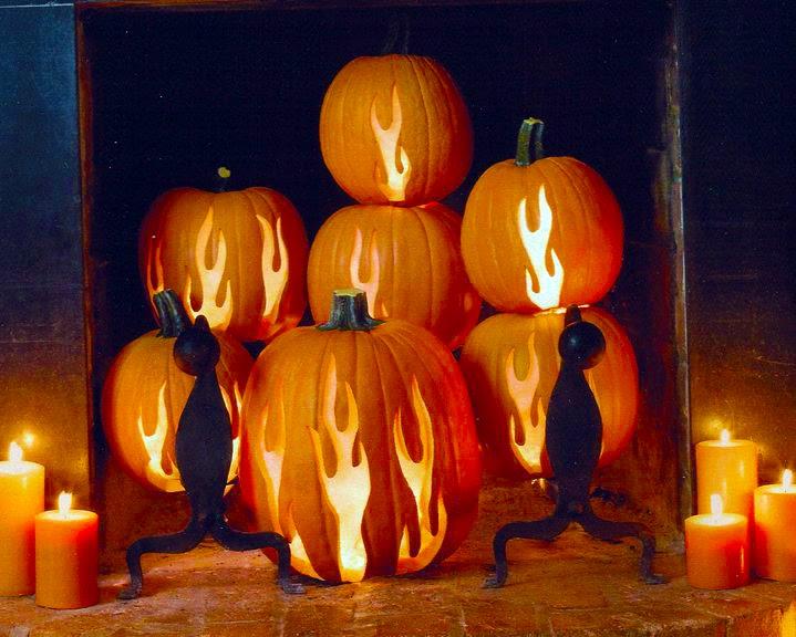 MyScaryBlog.com: Pumpkin Fireplace