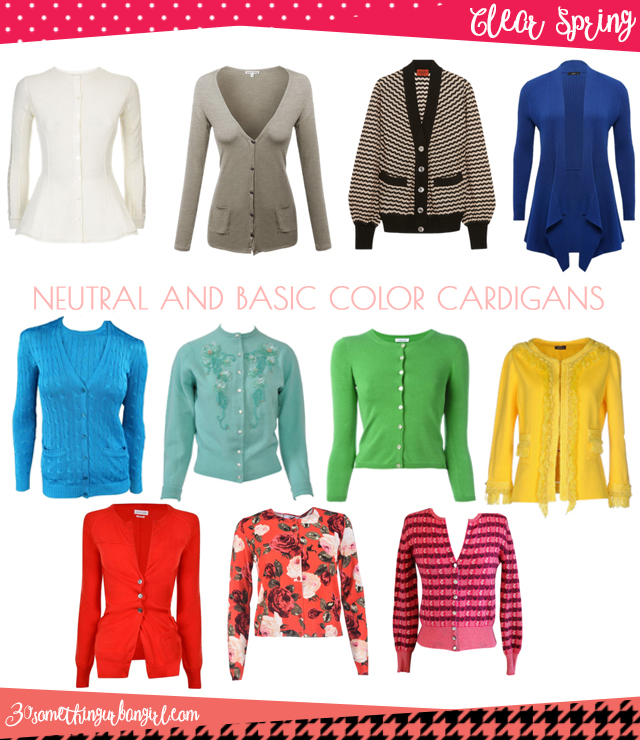 Wardrobe Essential: Neutral and basic color cardigans for Clear Spring women by 30somethingurbangirl.com