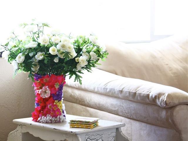 как украсить вазу.