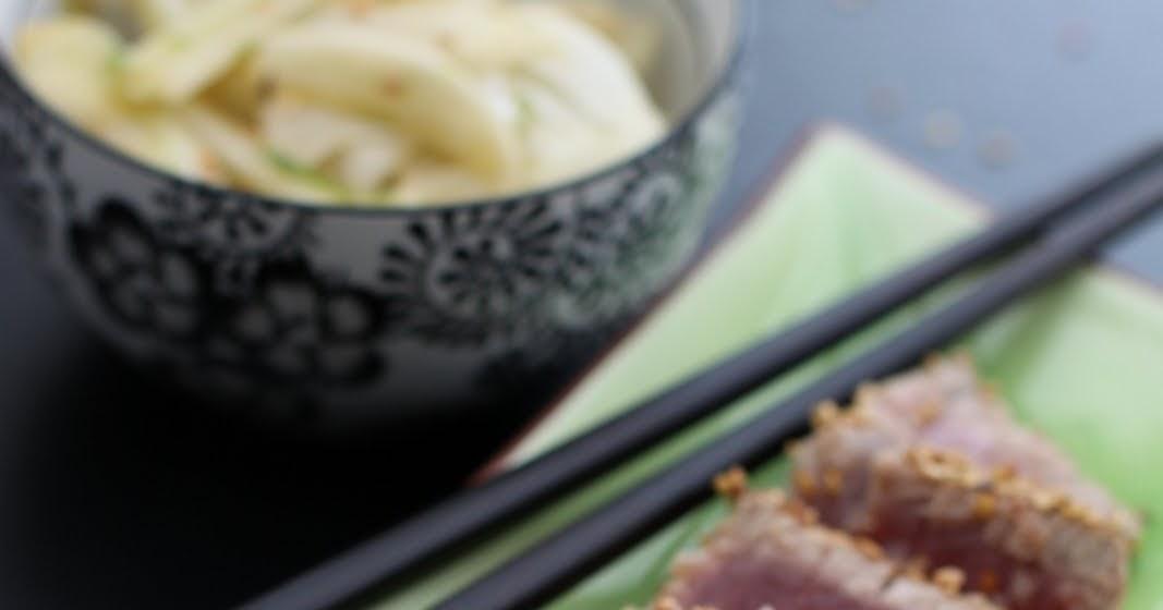 De vous moi thon mi cuit au sesame salade de fenouils - Comment cuisiner le thon rouge ...