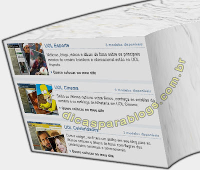 widgets uol ultimas noticias no blog