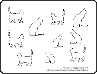 Didactic Educational Prints And Drawings Dibujo De Gatos Para
