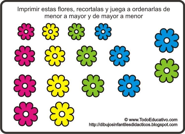 Flores En Dibujo A Color: Láminas Y Dibujos Didácticos Gratis Con Dibujos Para