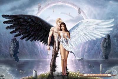 imágenes de ángeles y demonios alas blancas y negras