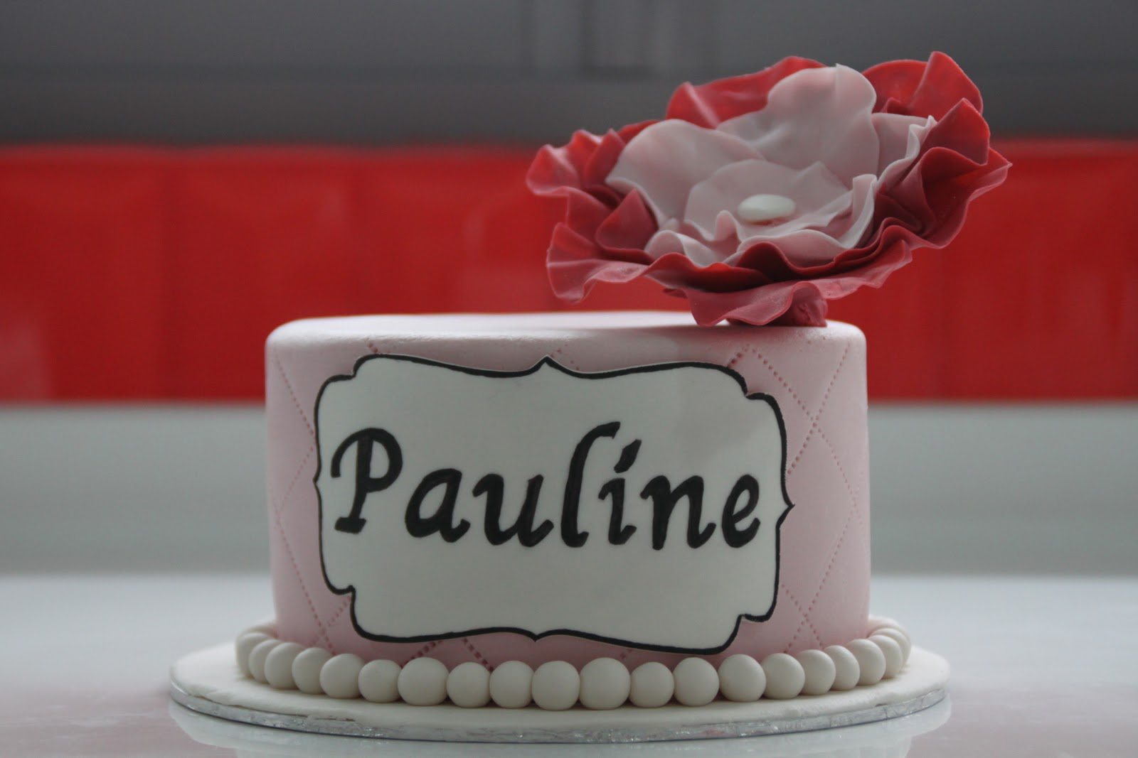 Celebrate With Cake! Elegant Flower Theme Cake