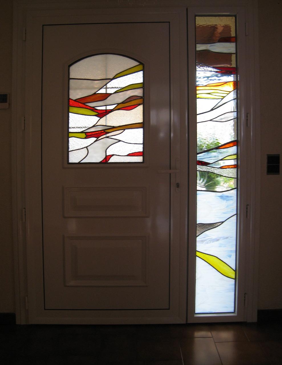 vitrail porte d 39 entr e atelier de cr ations de vitraux. Black Bedroom Furniture Sets. Home Design Ideas