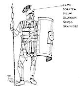 Ciao bambini: Antichi Romani: l'esercito Pagine da colorare