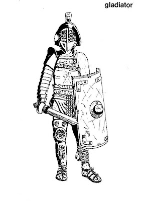 Old Roman Armor Coloring Pages