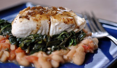 Halibut with Braised Greens
