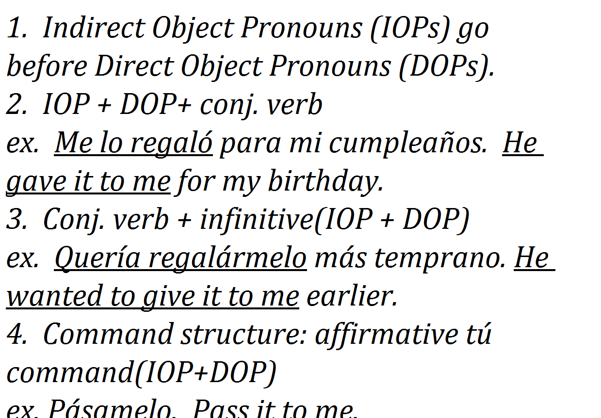 Direct Object Pronoun Exercises English