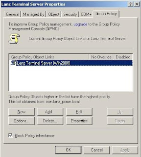 The IT stuff: Filtering Group Policy from Applying (Windows Server 2003)