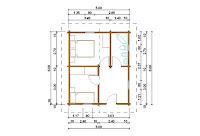 Progetti di case in legno casetta 30 mq for Case in legno 50 mq