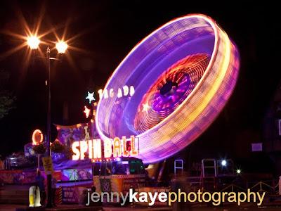 Night photos at the fair
