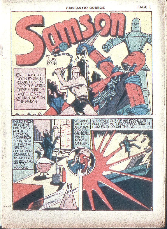 Read online Fantastic Comics comic -  Issue #4 - 3
