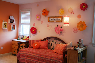 Decorating With Paper Flowers Wall Flower Bedroom