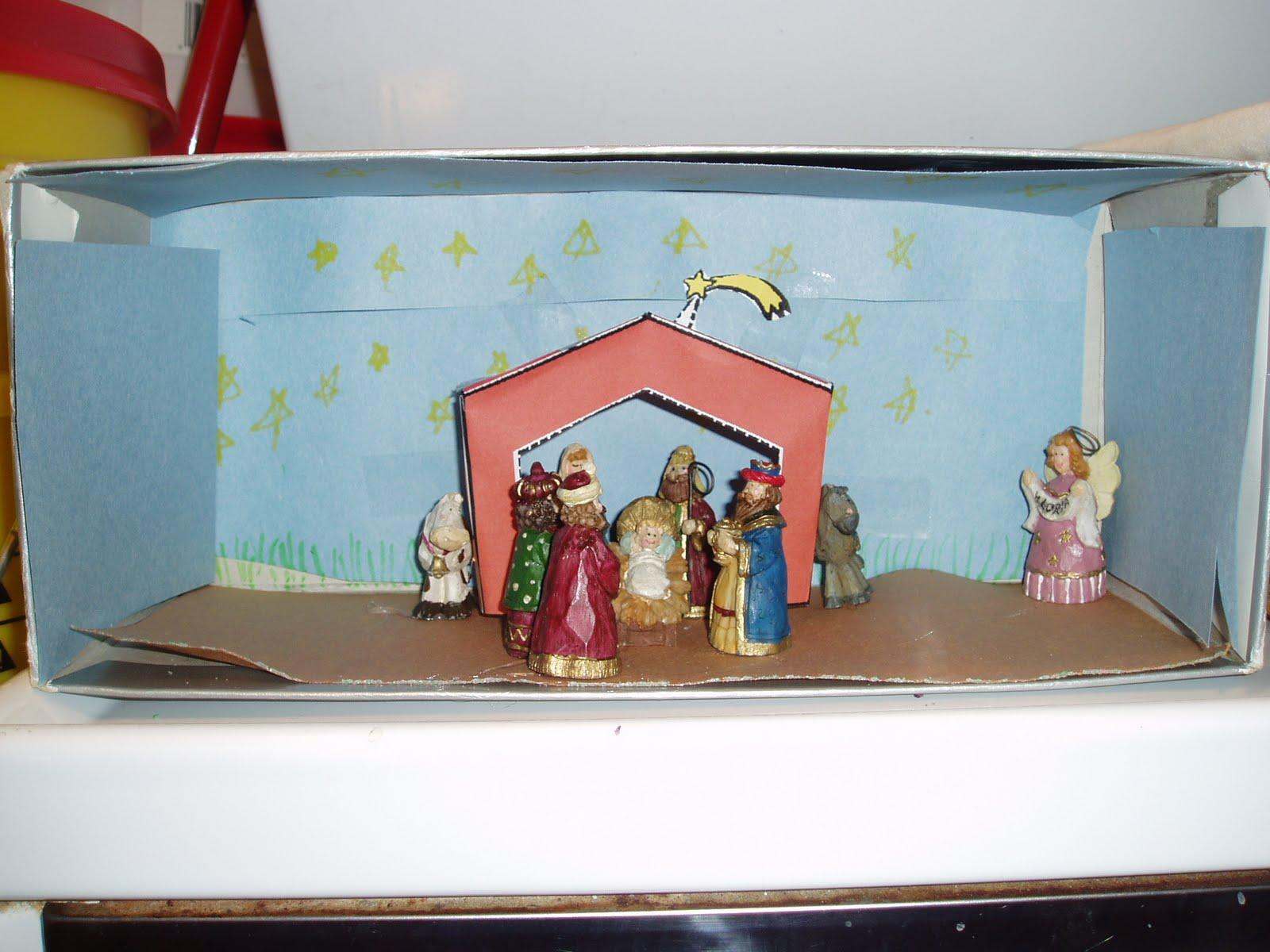 Christmas Shoebox Diorama.5 Too Many Christmas Around The World