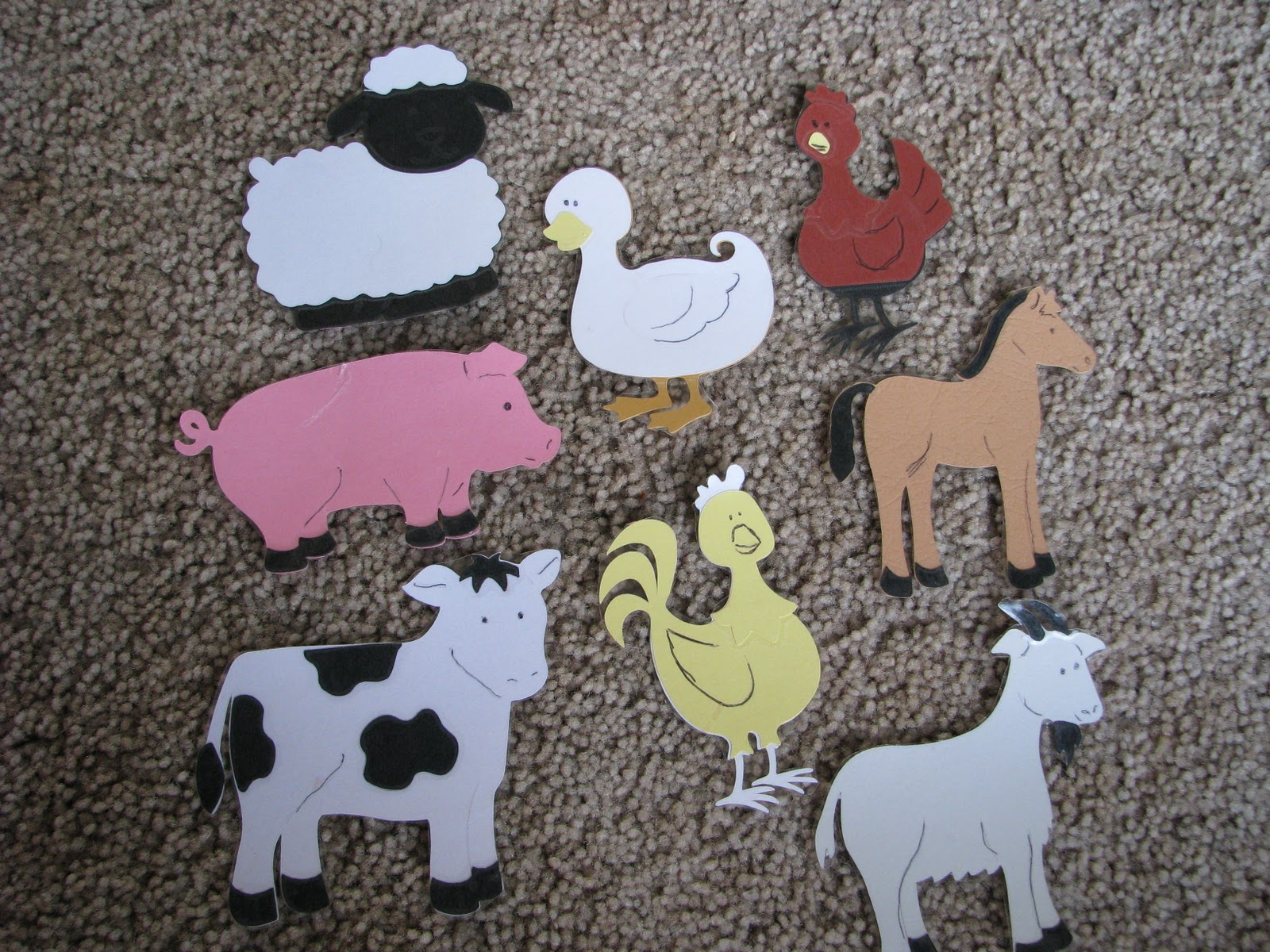 Mommy S Little Helper Farm Animal Silhouette Matching Game
