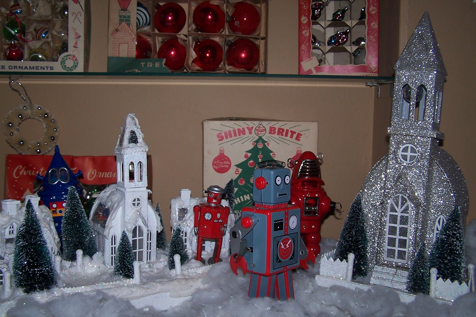 My House Is Cuter Than Yours Robots Attack Christmas