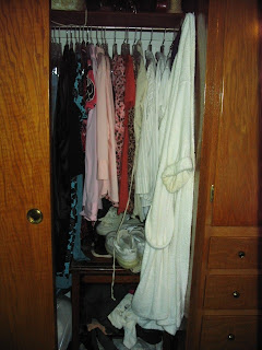 Unorganized Bedroom Closet