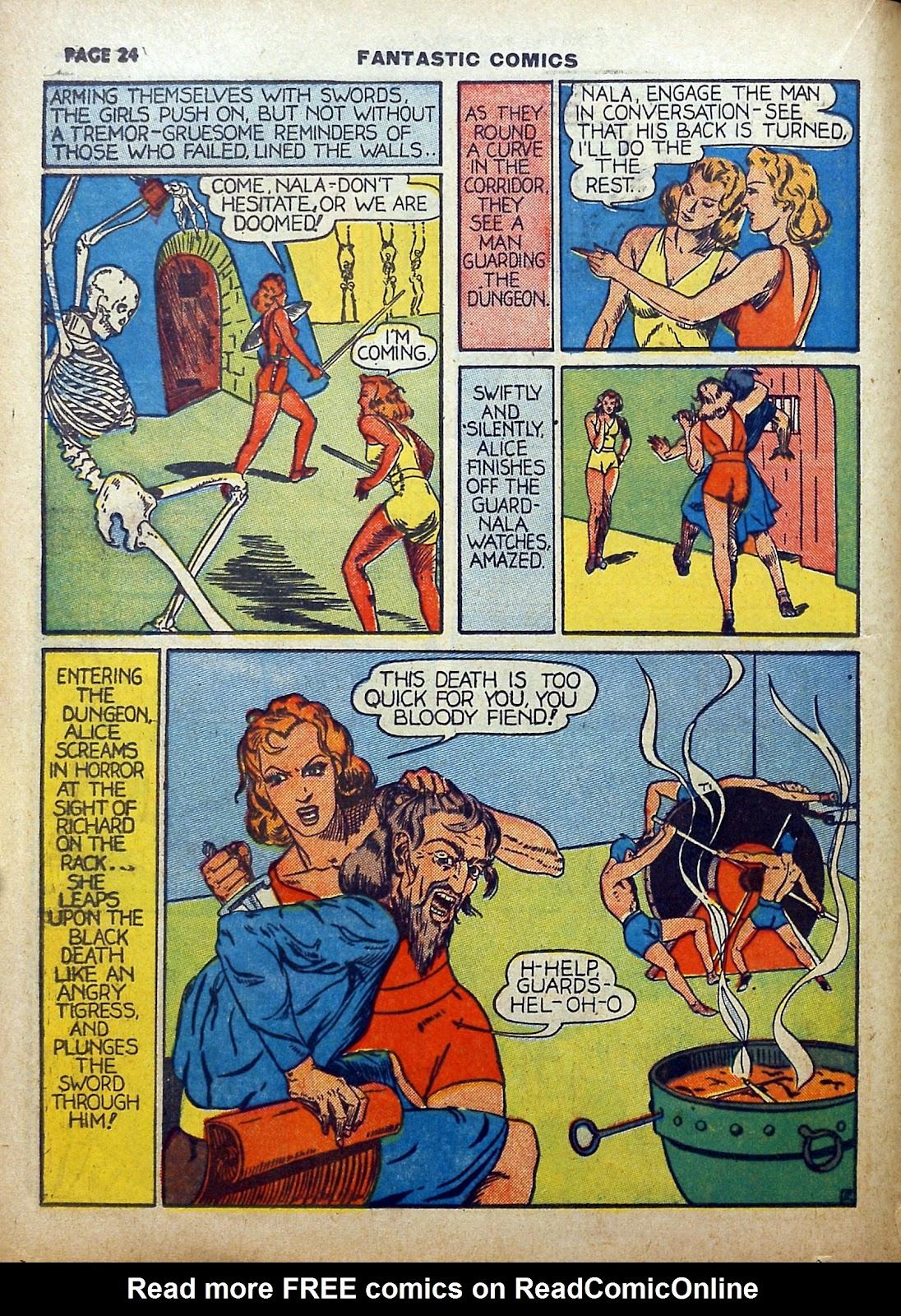 Read online Fantastic Comics comic -  Issue #5 - 25