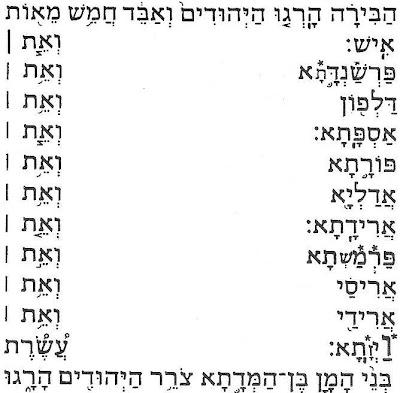 J'ai fusionné ici le texte d'Esther donné pages 124 et 126 de l'édition Colbo de 1987, ISBN 2-85332-094-4