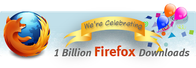 Firefox billion download milestone