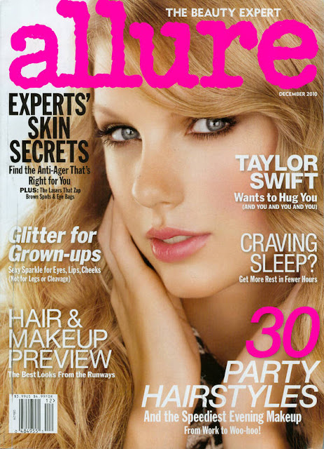 Taylor Swift Allure Magazine December 2010