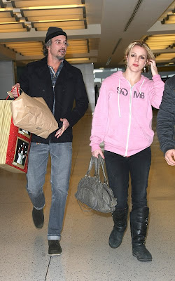 Britney Spears jetting out of JFK with Jason Trawick
