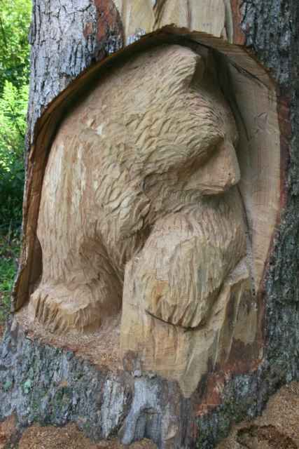 Bear Creek Pa >> Tree Creations by Jim Rourke: Big chainsaw carved oak totem