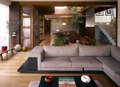 comfortable home comfortable house with a sofa