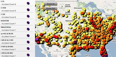 Maps Mania: America's Dangerous Roads on Google Maps