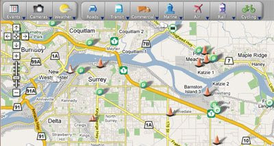 Maps Mania All Vancouver Traffic on Google Maps