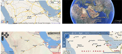 Maps Mania: Comparing On-Line Map Providers on ibm earth maps, bing earth maps, nasa earth maps, google earth maps,
