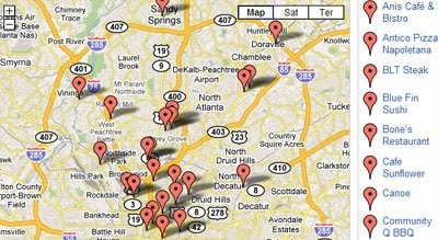 Maps Mania Atlanta Restaurant Reviews on Google Maps