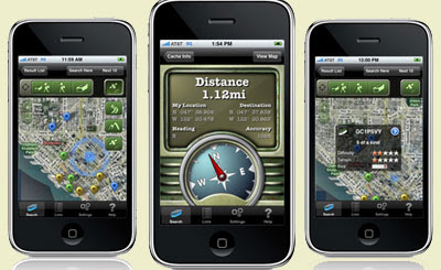 geocaching app for iphone maps mania the geocaching iphone app 4899