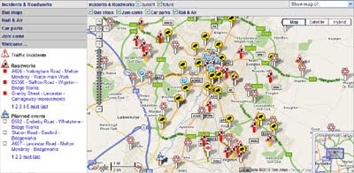 Leicester City Uk Map.Maps Mania Leicester City Traffic On Google Maps