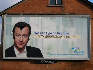 David Cameron Conservative Vandalised Billboard