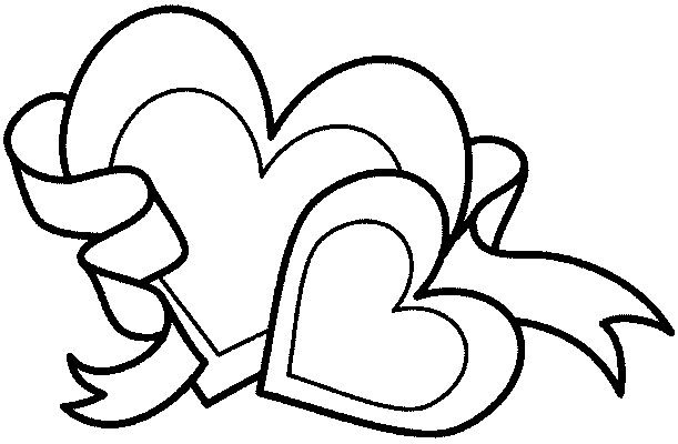 Valentines Day Coloring Pages: Valentine Hearts Coloring