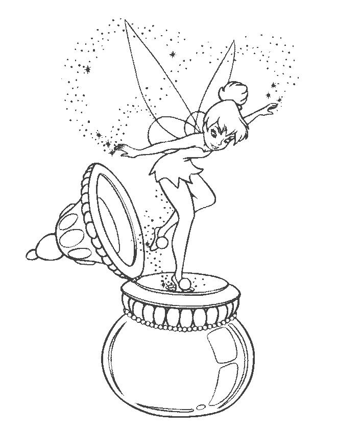 Transmissionpress Tinkerbell Coloring Pages Printable
