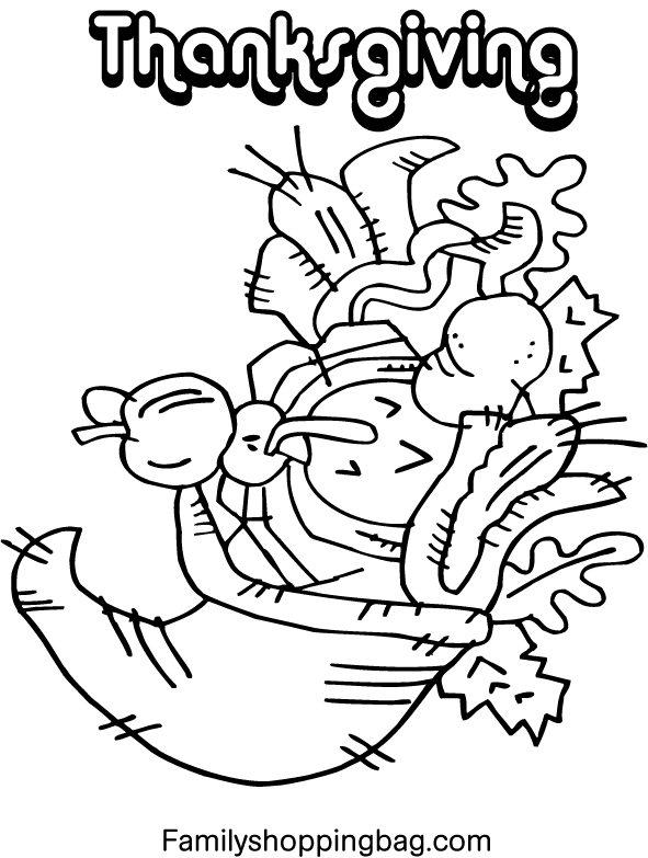 Thanksgiving Coloring Pages For Kids Printables Free