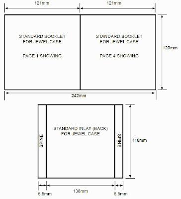 Bearmans A2 Media Work CD Case Dimensions