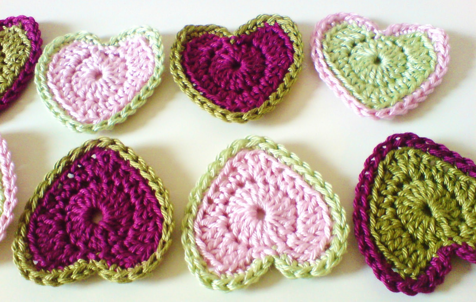 Microcknit creations perfect hearts filling you with love crochet patterns how to crochet hearts hearts garland hearts bunting hearts bankloansurffo Images