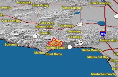 Hill Fire California Map.Cfn California Fire News Cal Fire News Malibu Corral Fire