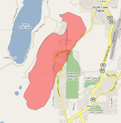Northbay Fire Map.Cfn California Fire News Cal Fire News Angora Fire South